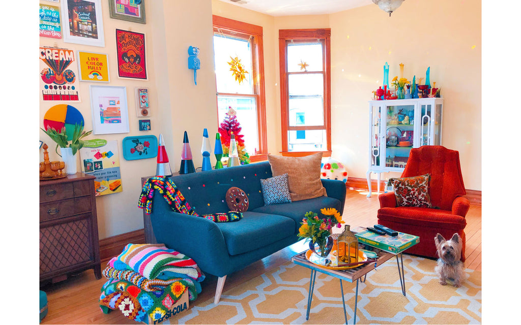 House Tour: Vanessa's colourful 70s style lounge