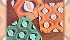 Op Art coasters by Inkabilly