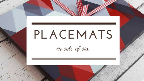 placemats in sets of 6 | The Inkabilly Emporium
