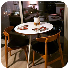 customer photo - scandi geometric placemats in red and grey on vintage mid century table and Gplan chairs | The Inkabilly Emporium