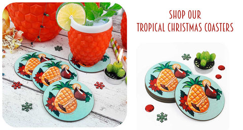 Shop Tropical Christmas Coasters