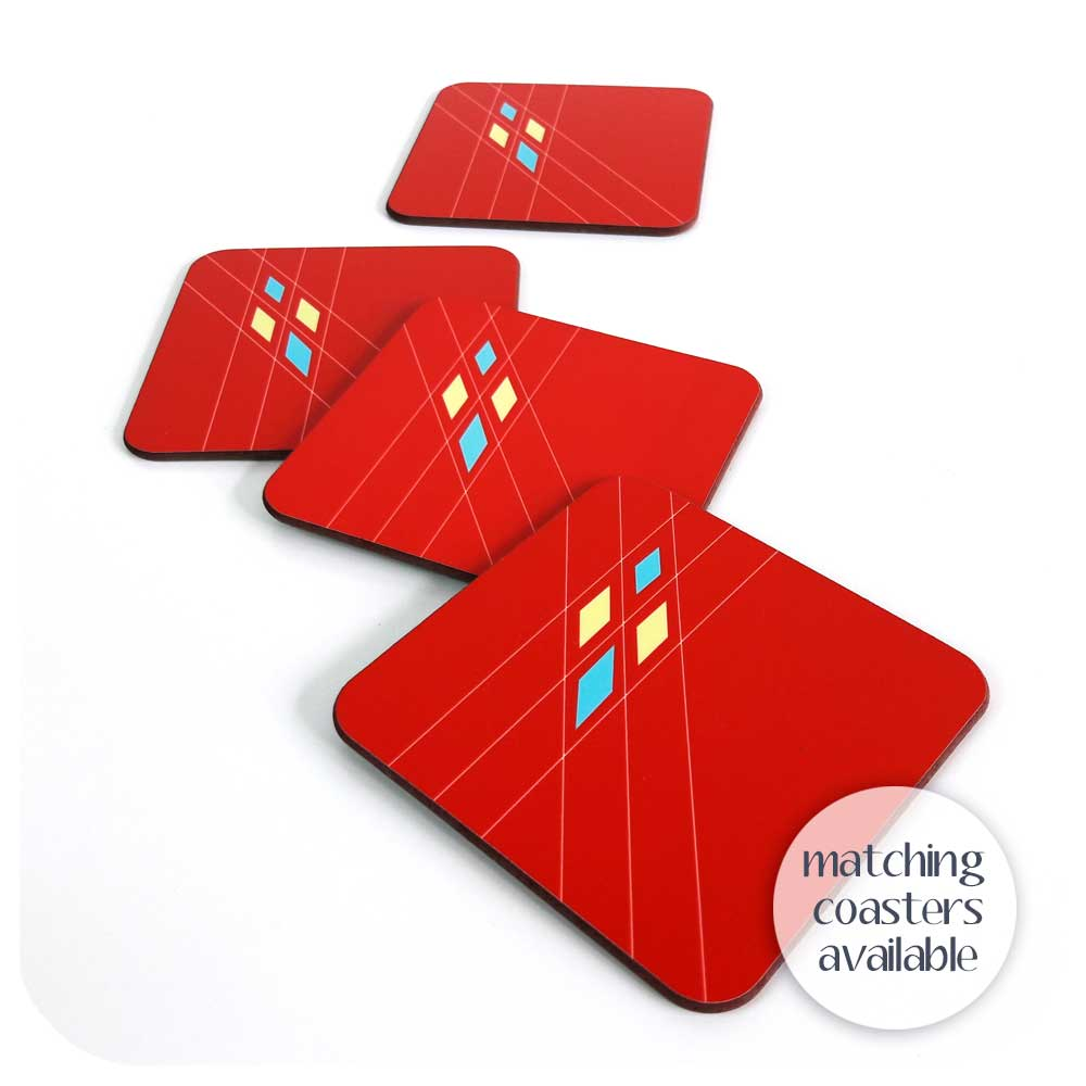 Matching coasters are available for our 50s Argyle patterned placemats | The Inkabilly Emporium