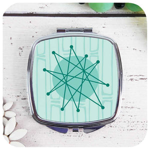 Atomic Starburst, Space Age Compact Mirror | The Inkabilly Emporium
