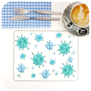 Atomic Starburst Placemat, 50s kitchen setting | The Inkabilly Emporium