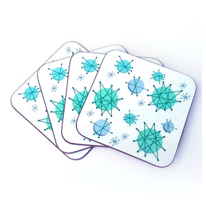 Atomic Starburst Coasters | The Inkabilly Emporium