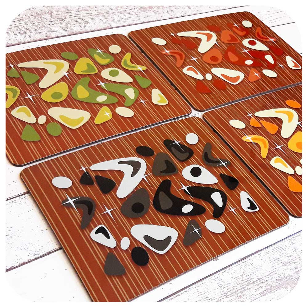 Atomic Boomerang Place Mat Set  | The Inkabilly Emporium