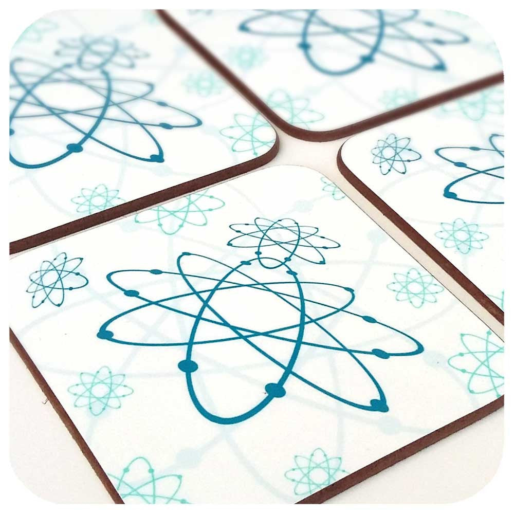Atomic Era Coasters, Set of Four | The Inkabilly Emporium