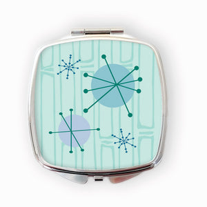 Atomic Starburst 50s style Compact Mirror | The Inkabilly Emporium