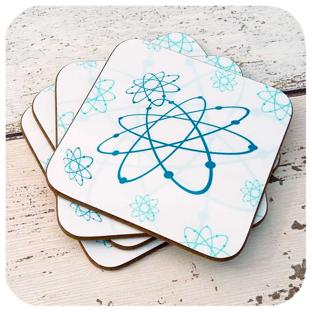 Atomic Coasters, Mid century atomic design | The Inkabilly Emporium
