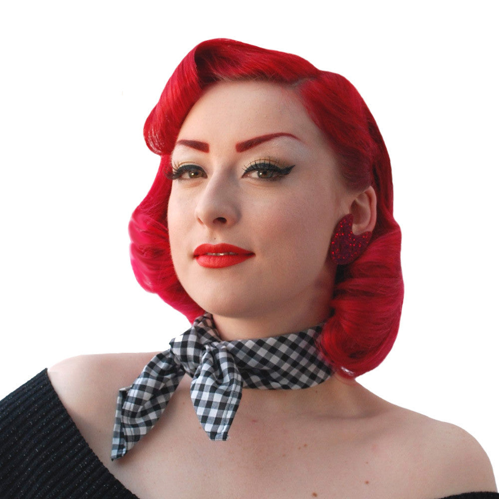 Black Gingham Bandana | The Inkabilly Emporium