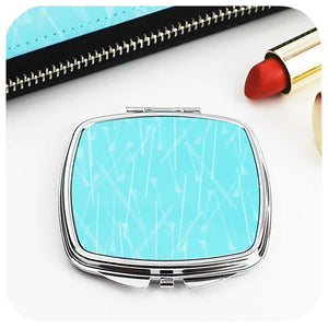 Blue Pins 50s style Compact Mirror | The Inkabilly Emporium