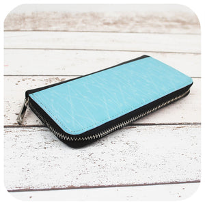Blue Pins Large Zippered Purse | The Inkabilly Emporium
