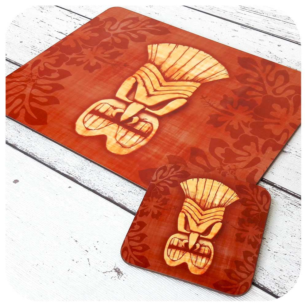 Brown Tiki Mask Table Decor | The Inkabilly Emporium