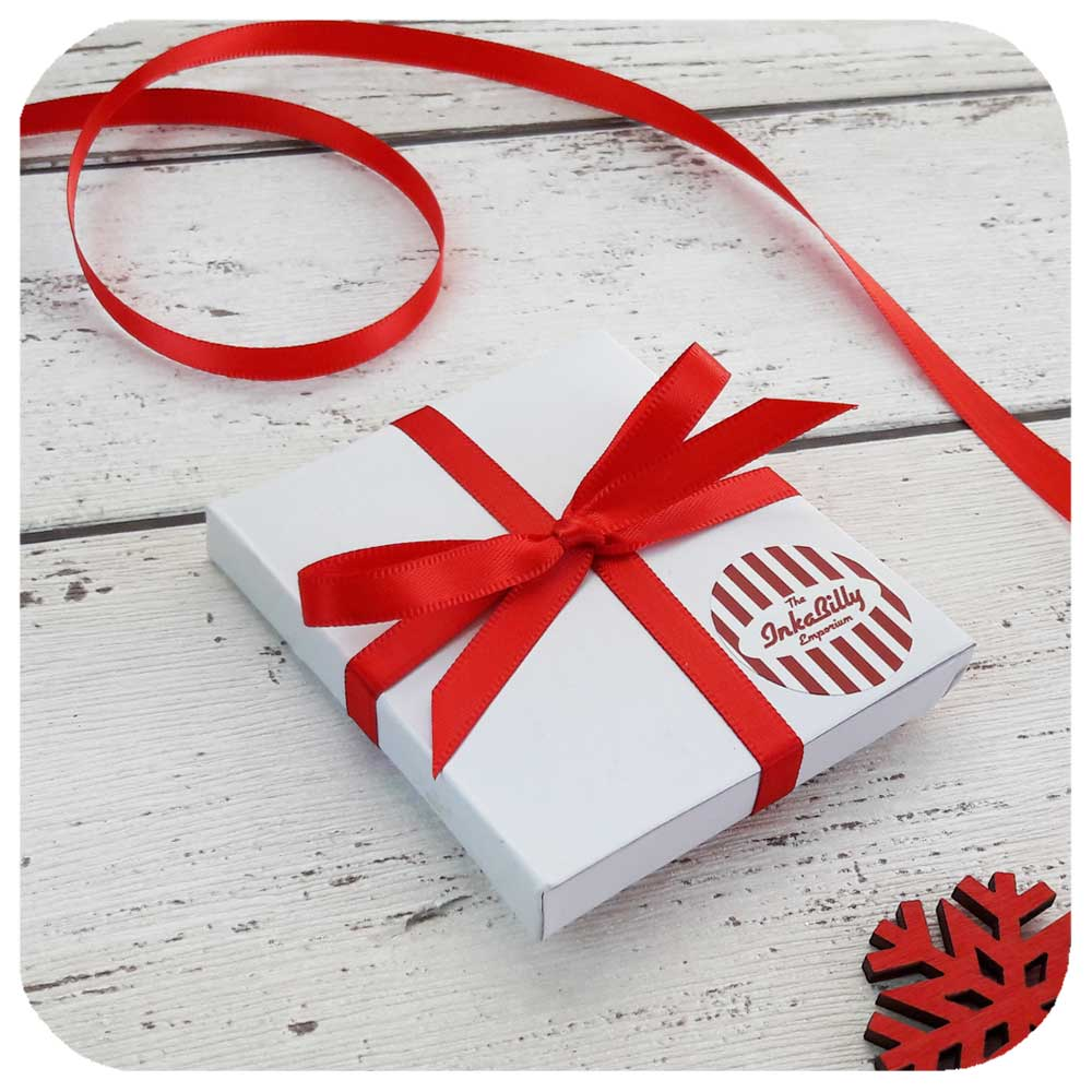 Shipped in a cute gift box tied with ribbon | The Inkabilly Emporium