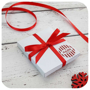 Compact mirrors in gift box, tied with ribbon | The Inkabilly Emporium