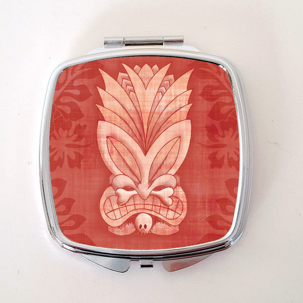 Tiki Compact Mirror, Pink | The Inkabilly Emporium