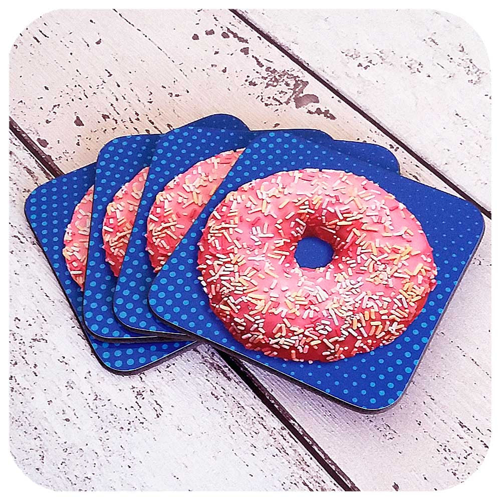 Kitsch Donut Coaster set | The Inkabilly Emporium