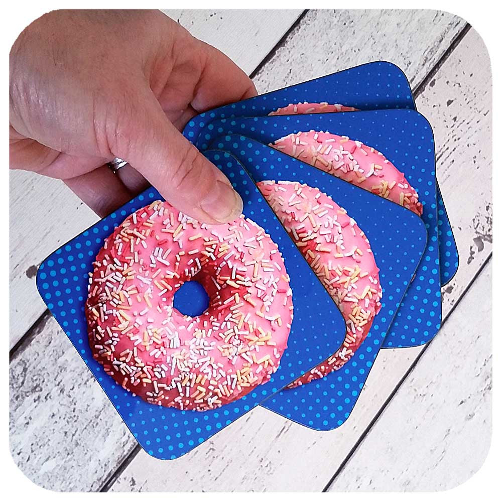 Set of four Donut Coasters | The Inkabilly Emporium