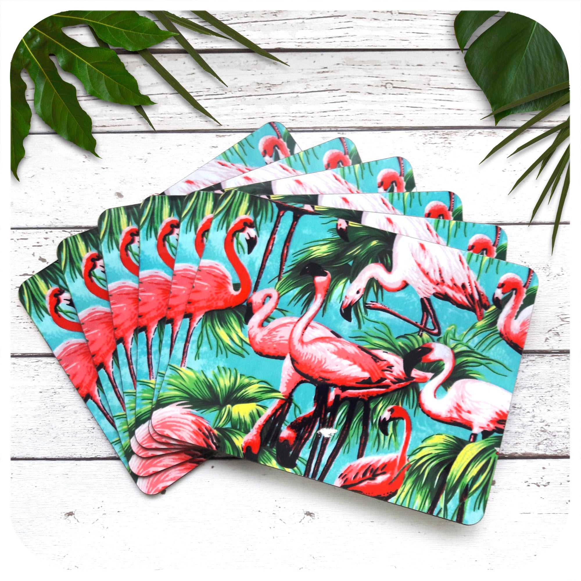 Flamingo Placemats, set of 6 | The Inkabilly Emporium