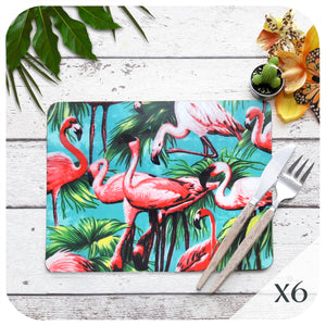 Set of 6 Flamingo Placemats | The Inkabilly Emporium