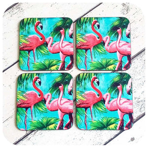 Kitsch Flamingo Coaster Set | The Inkabilly Emporium