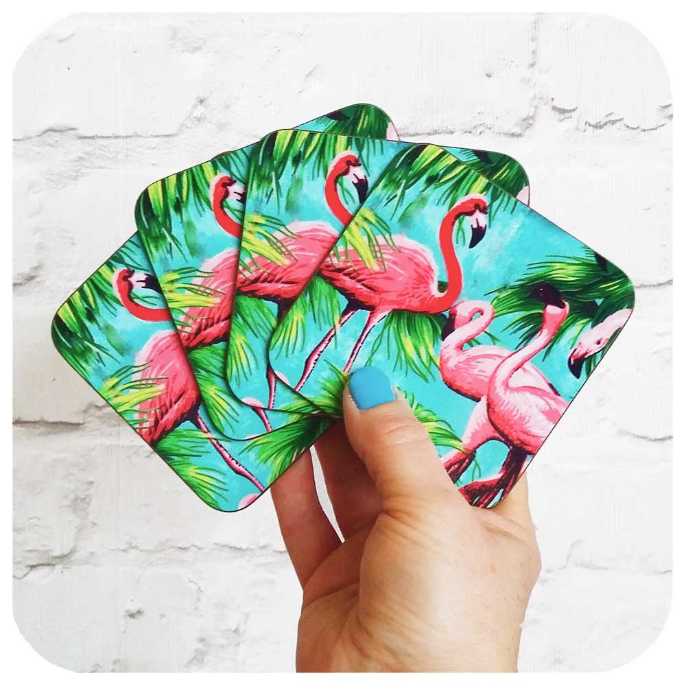Flamingo Coasters by Inkabilly