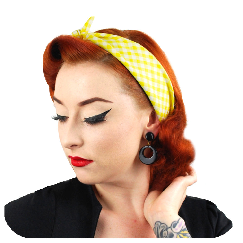 Yellow Gingham Bandana | The Inkabilly Emporium
