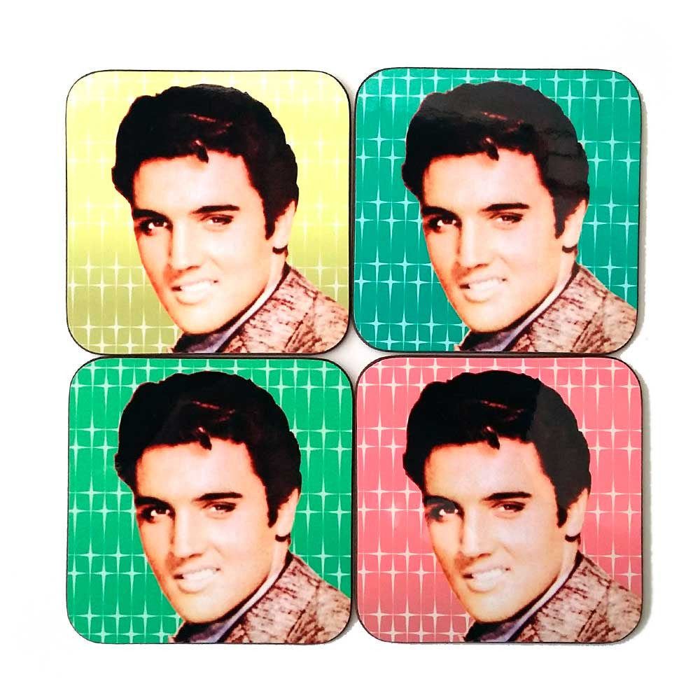Rock n Roll Elvis Coaster set | The Inkabilly Emporium