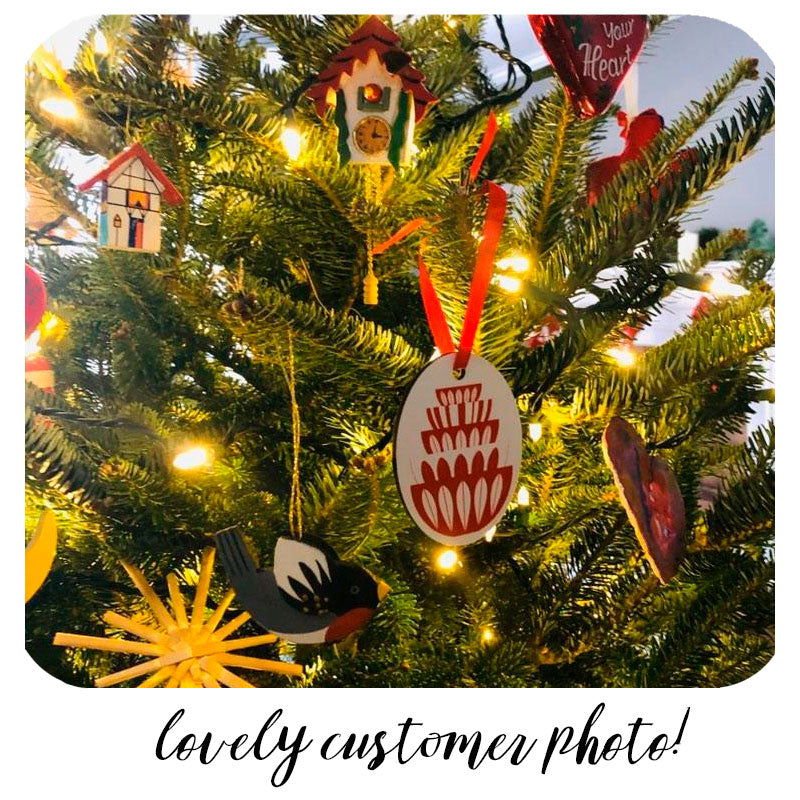 CathrineHolm Bowls Stack Christmas Tree Decoration - personalisation option