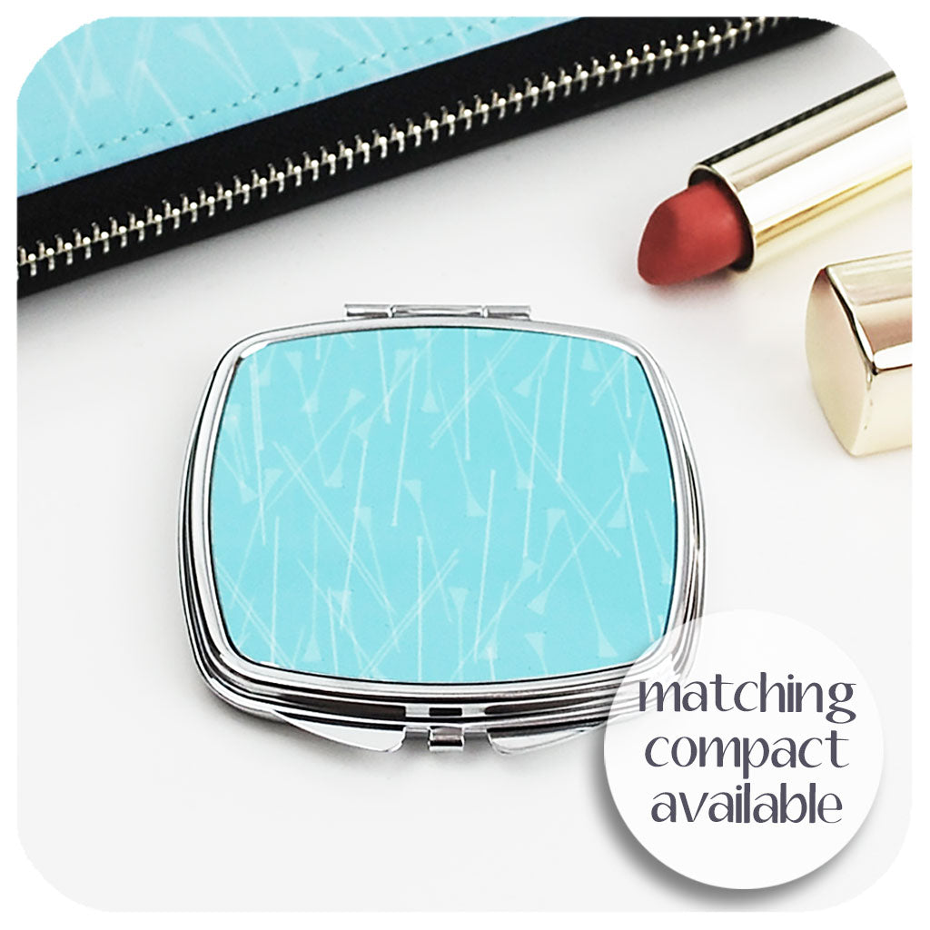 Blue Pins Compact Mirror to match purse | The Inkabilly Emporium