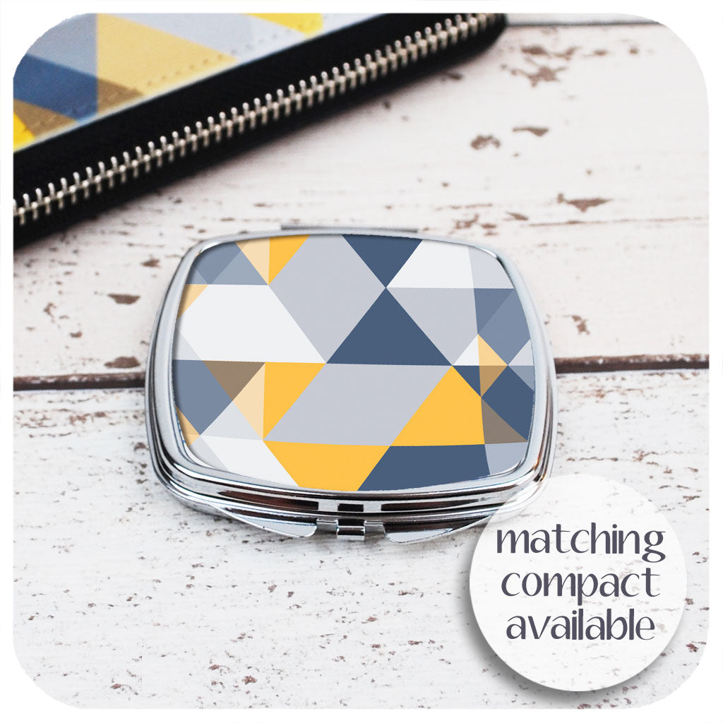 Matching Scandi Geometric Compact Mirror | The Inkabilly Emporium