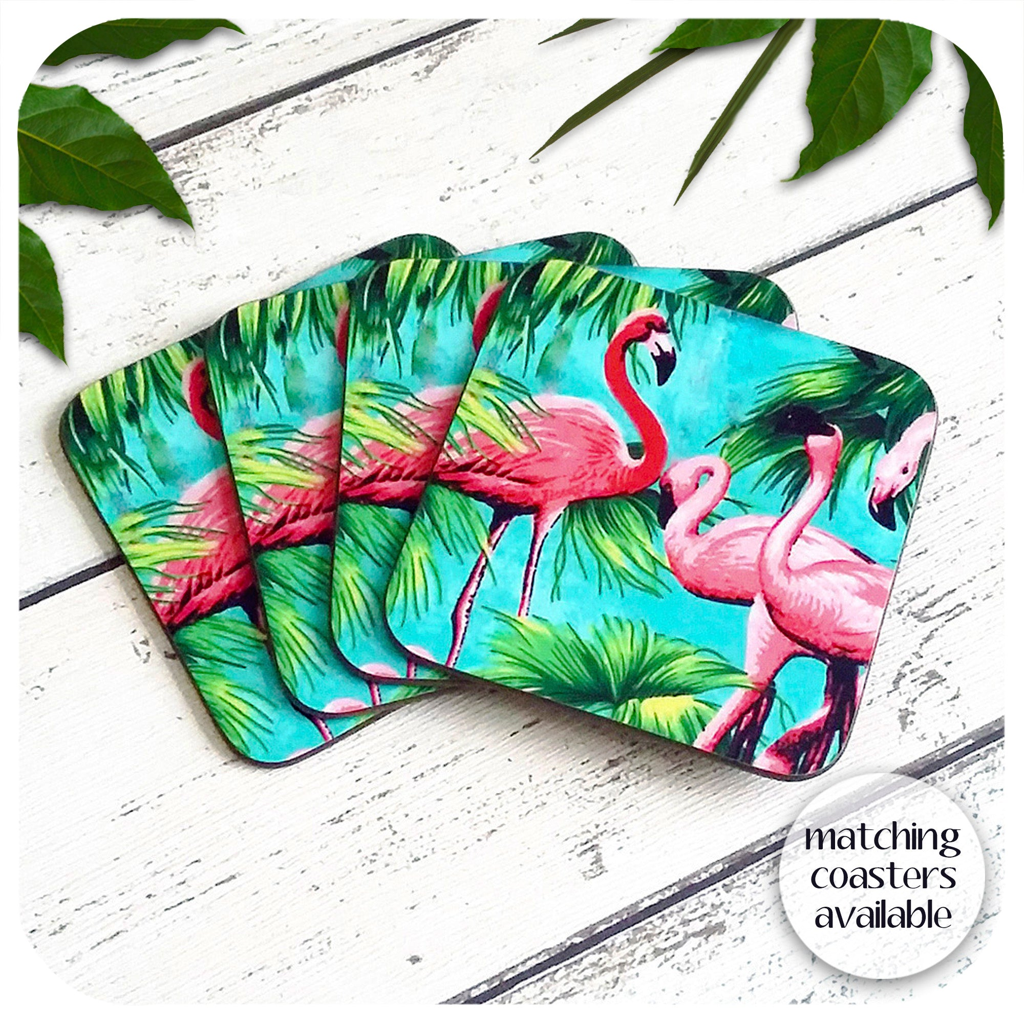Matching Flamingo Coasters available | The Inkabilly Emporium