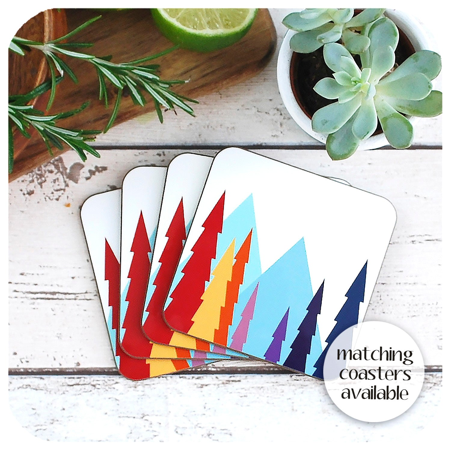 Matching Nordic Trees Coasters available | The Inkabilly Emporium
