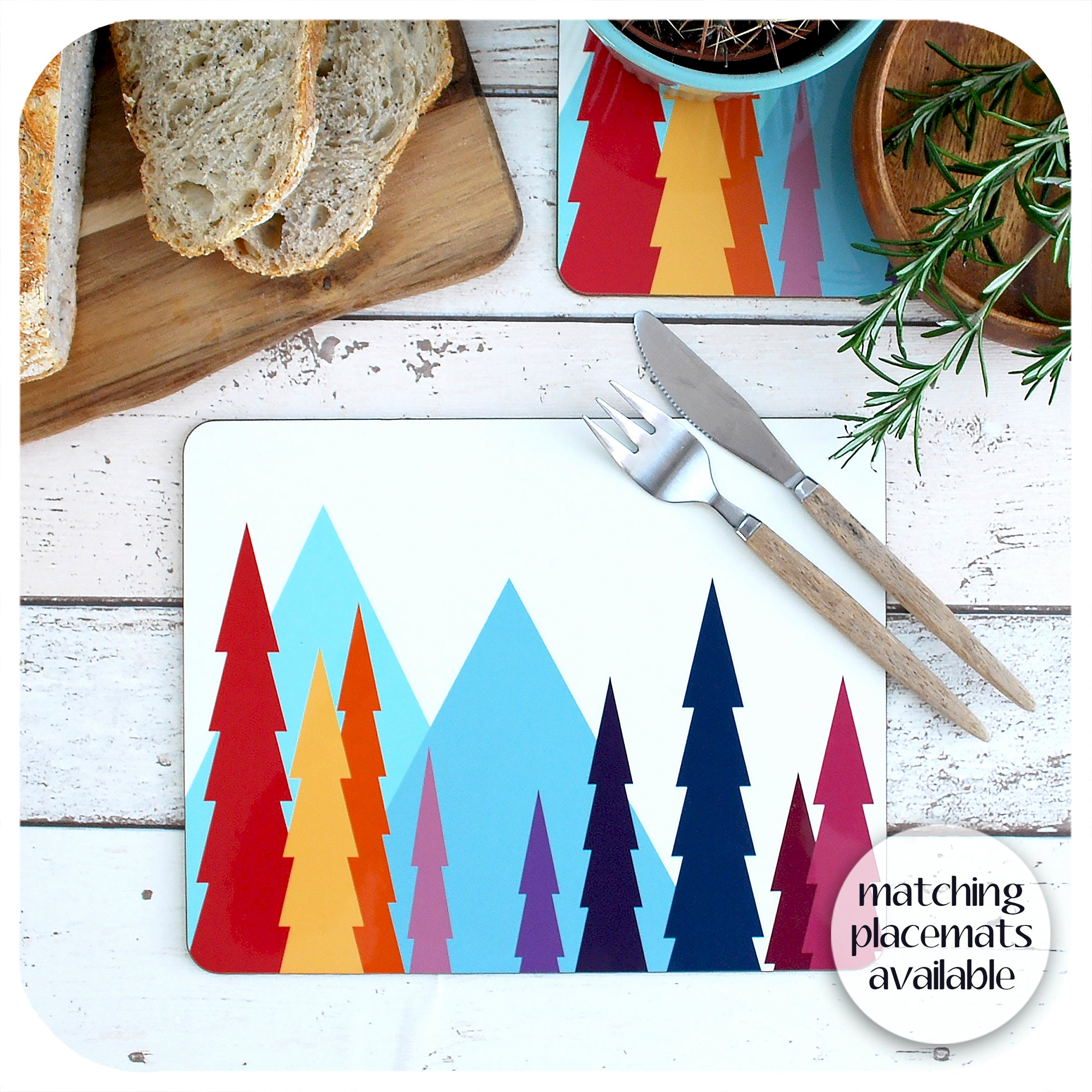 Matching Nordic Trees Placemats available | The Inkabilly Emporium