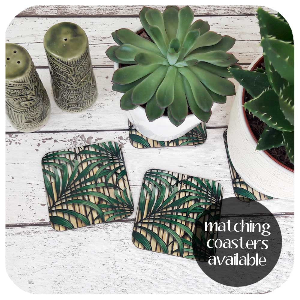 Tropical Palm Leaf Coasters to match placemats available | The Inkabilly Emporium