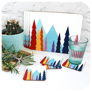 Nordic Trees Placemats, set of 6 | The Inkabilly Emporium