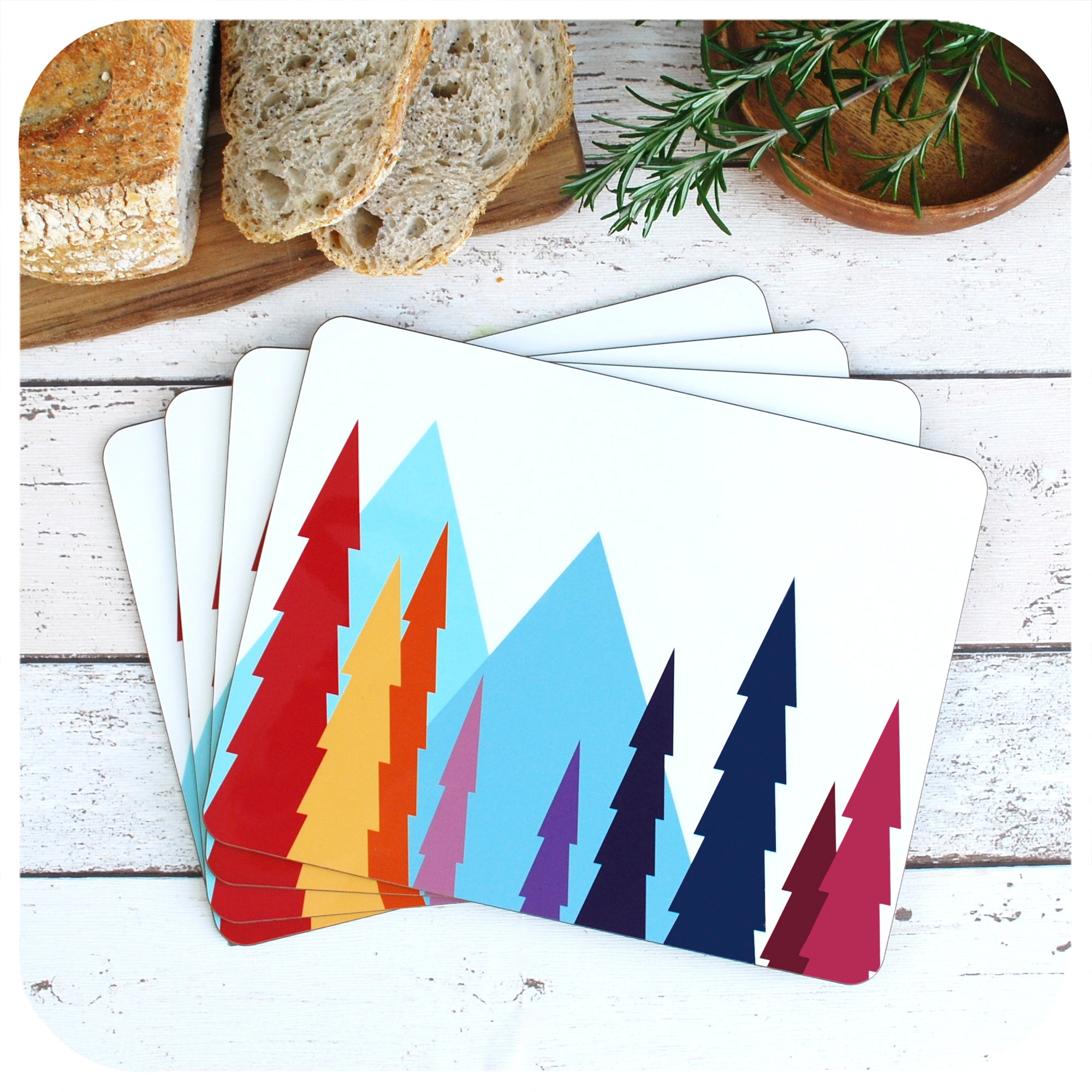 Nordic Trees Placemat, set of 4 in a fan | The Inkabilly Emporium