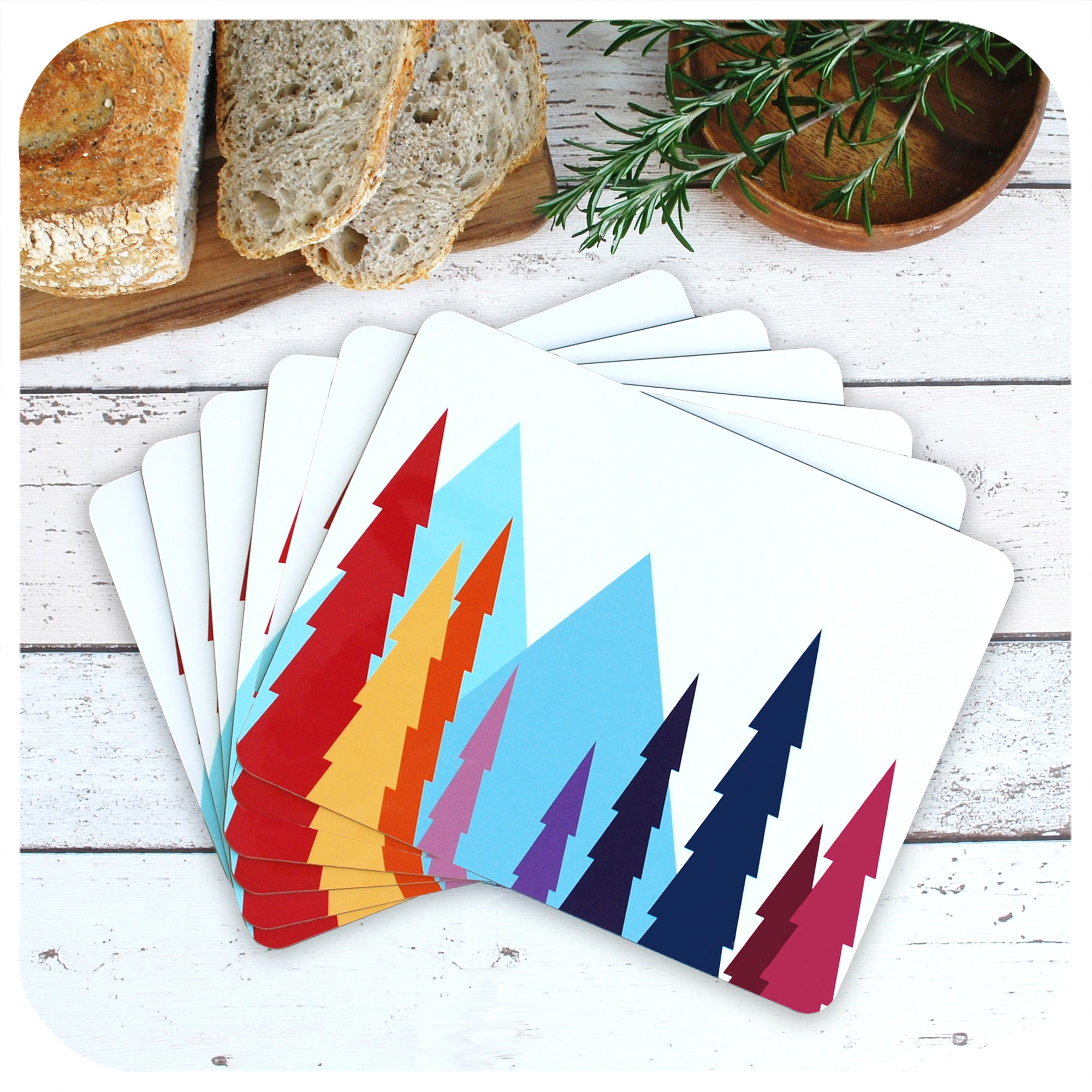 Nordic Trees Placemats, set of 6 in a fan | The Inkabilly Emporium