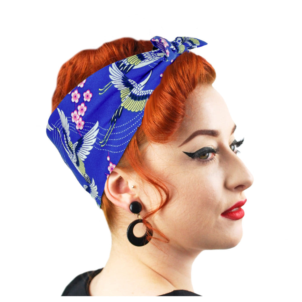 Japanese Blossom Bandana | The Inkabilly Emporium