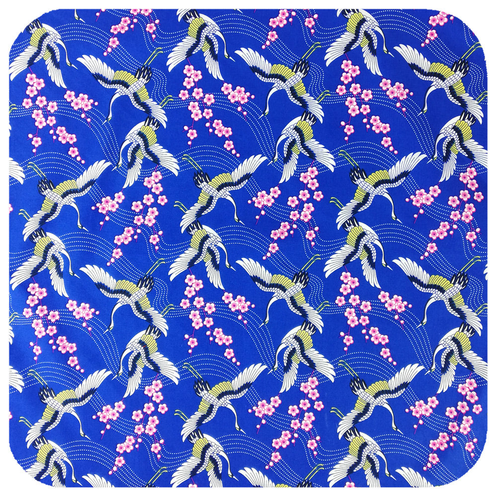 Japanese Blossom Bandana fabric close up | The Inkabilly Emporium