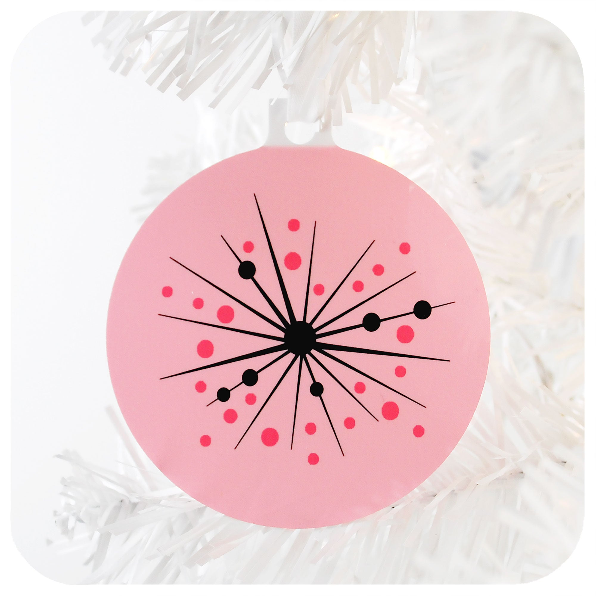 Pink Atomic Starburst Christmas Decoration | The Inkabilly Emporium