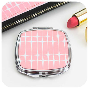 Pink Starburst Compact Mirror | The Inkabilly Emporium