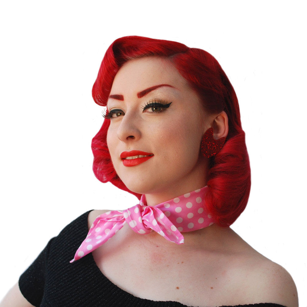 Pink Polka Dot Bandana | The Inkabilly Emporium