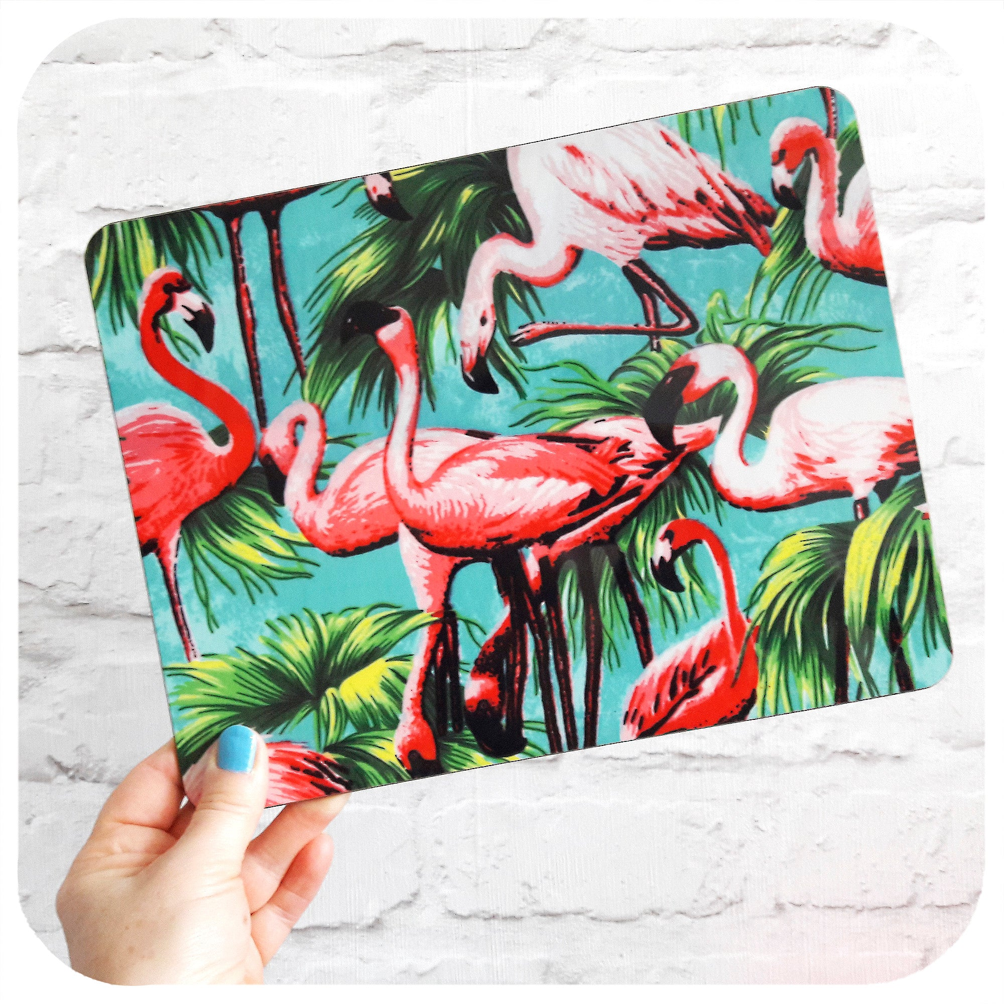 Pink Flamingo Placemat | The Inkabilly Emporium