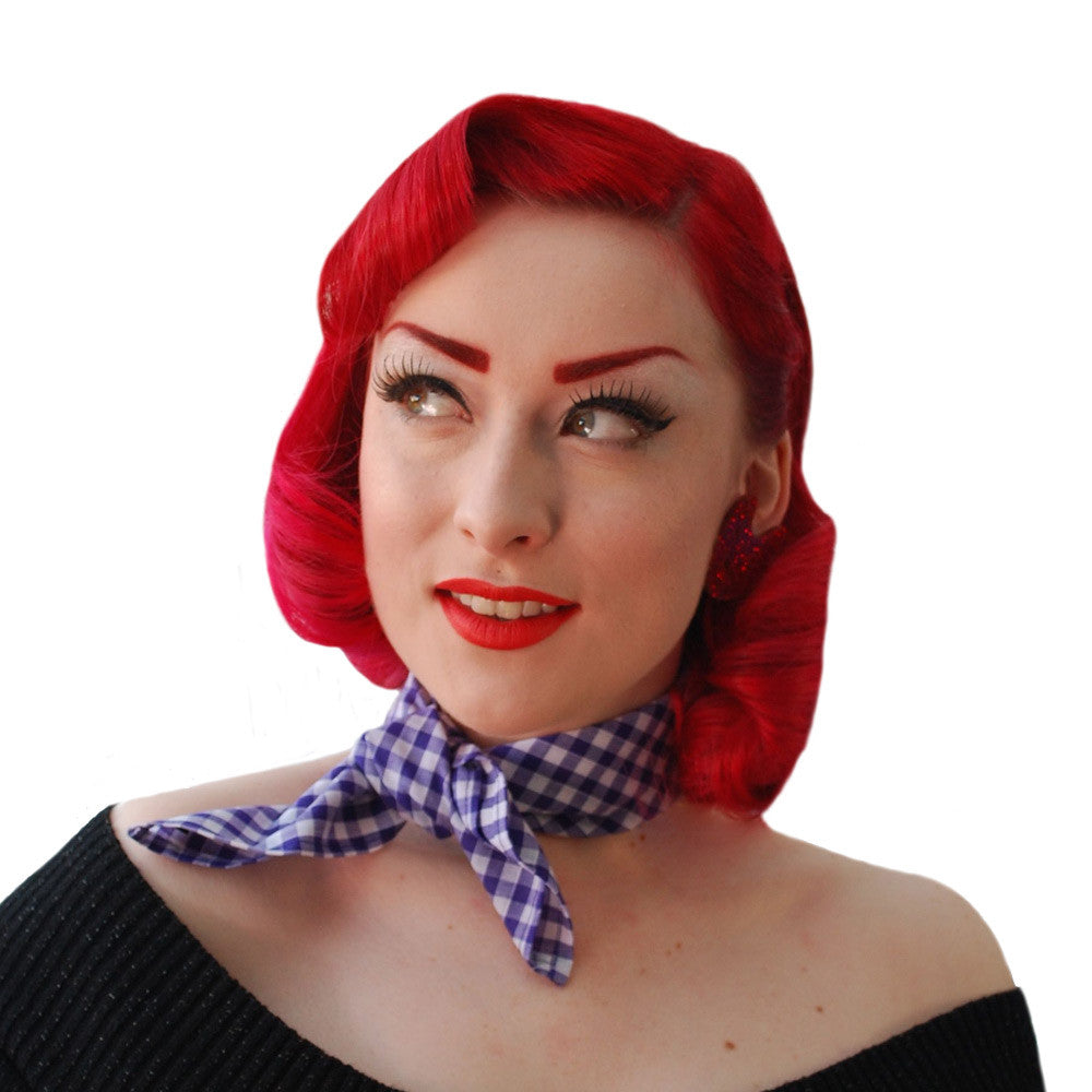 Purple Gingham Bandana | The Inkabilly Emporium