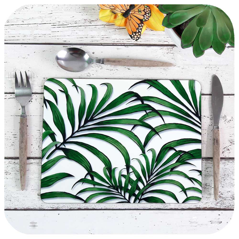 Palm Leaf Print Placemats | The Inkabilly Emporium