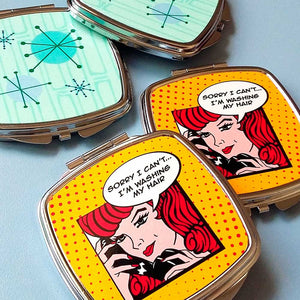 Retro Pin Up Compact Mirror | The Inkabilly Emporium