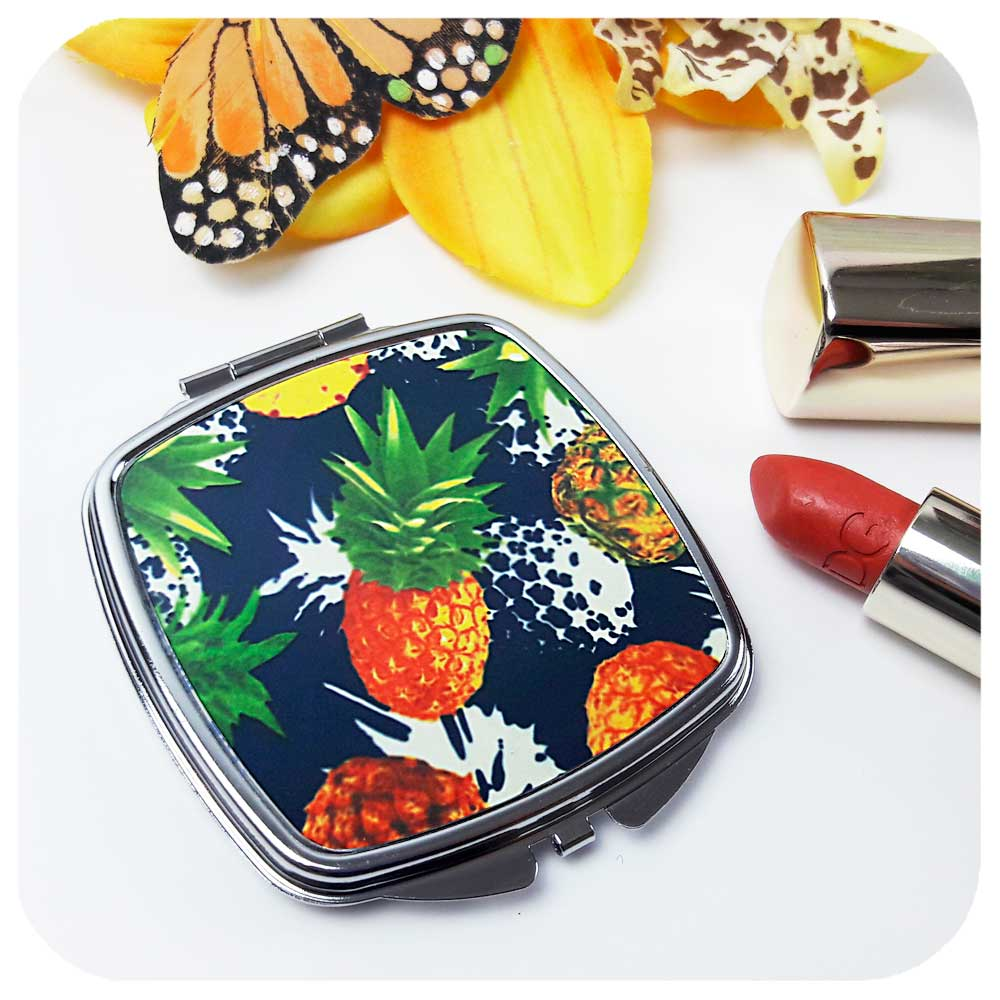 Pineapple Compact Mirror - part of our Tropical Gift Set | The Inkabilly Emporium