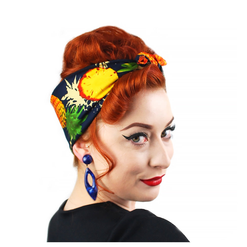 Pineapple Head Scarf - part of our Pineapple Retro Gift Set | The Inkabilly Emporium