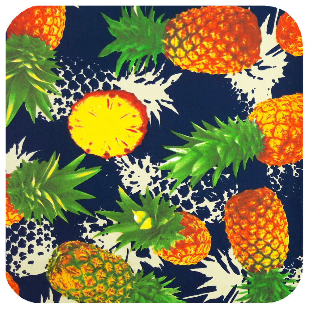 Pineapple Print fabric for Inkabilly bandana | The Inkabilly Emporium